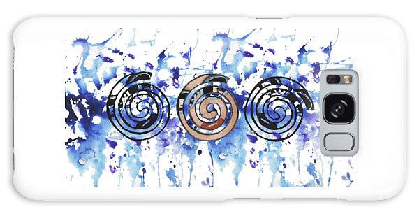 Three Spirals Galaxy Case by Christine Perry
