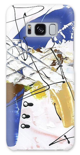 Three Color Palette Blue 3 Galaxy Case by Michal Mitak Mahgerefteh