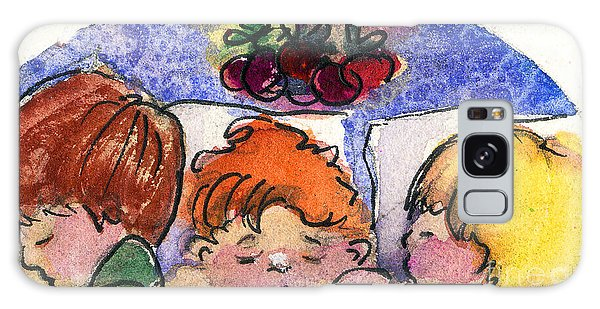 Three Sugar Plum Dreamers Galaxy Case by Mindy Newman