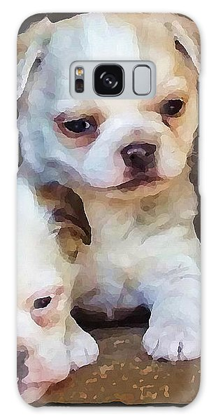 Galaxy Case featuring the digital art Three Sweeties by Shelli Fitzpatrick