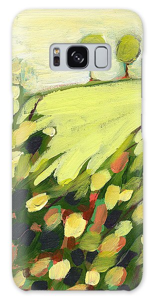 Impressionist Galaxy Case - Three Trees On A Hill by Jennifer Lommers