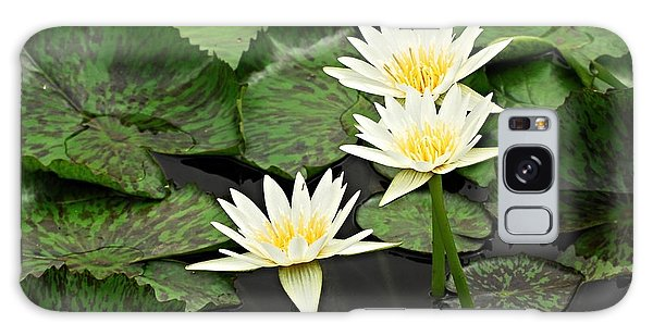 Three Water Lilies Galaxy Case