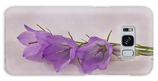 Three Wild Campanella Blossoms - Macro Galaxy Case by Sandra Foster