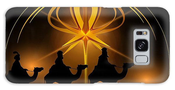 Three Wise Men Christmas Card Galaxy Case by Bellesouth Studio