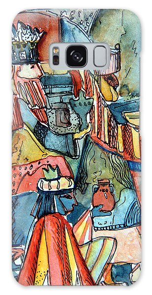 Three Wise Men Galaxy Case by Mindy Newman