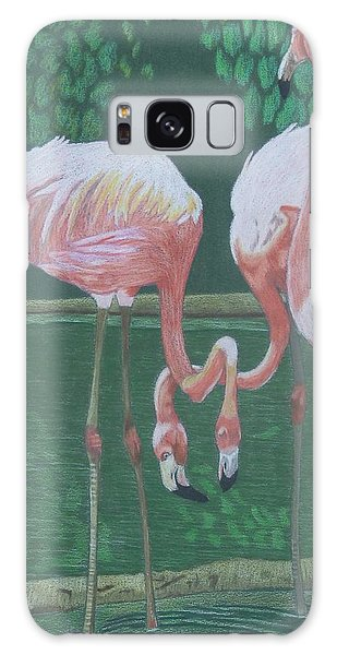 Threes A Crowd Galaxy Case by Anita Putman