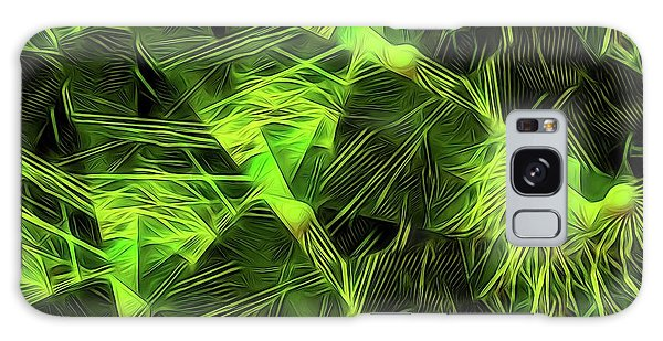 Threshed Green Galaxy Case by Ron Bissett