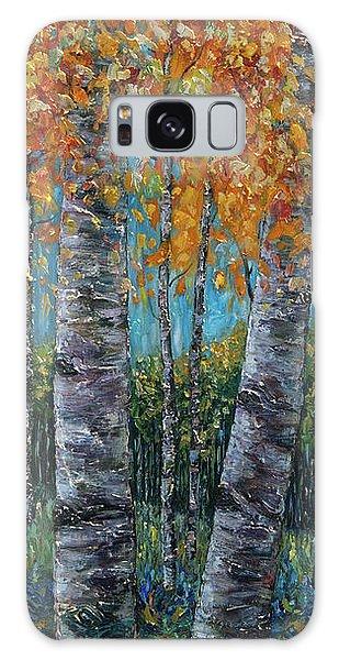 Through The Aspen Trees Diptych 1 Galaxy Case