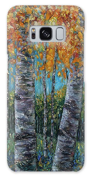 Through The Aspen Trees Diptych 1 Galaxy Case