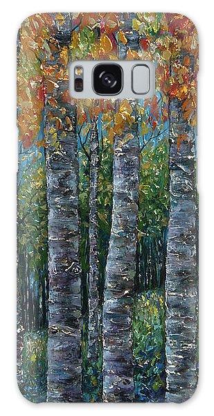 Through The Aspen Trees Diptych 2 Galaxy Case