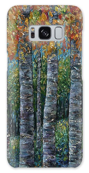 Through The Aspen Trees Diptych 2 Galaxy Case