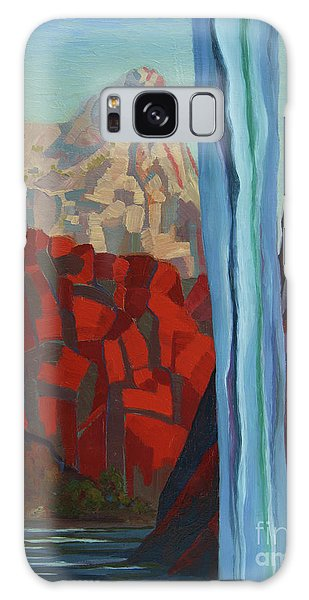 Galaxy Case featuring the painting Through The Narrows, Zion by Erin Fickert-Rowland