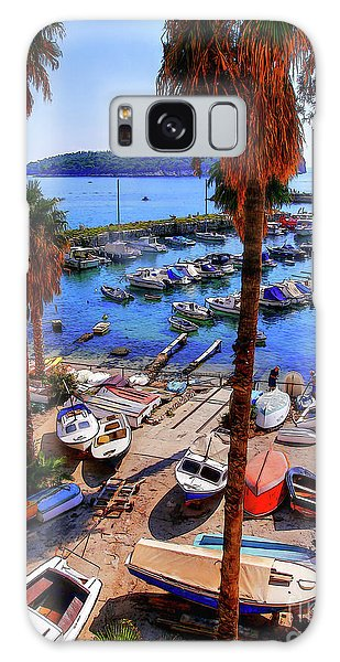 Through The Trees Dubrovnik Harbour Galaxy Case