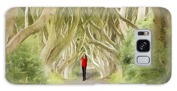 Through The Trees Galaxy Case by Roy  McPeak