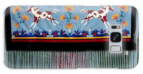 Galaxy Case featuring the tapestry - textile Thunder Pony by Chholing Taha