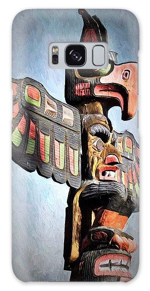 Thunderbird Totem Pole - Thunderbird Park, Victoria, British Columbia Galaxy Case