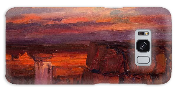 Galaxy Case featuring the painting Thundercloud Over The Palouse by Steve Henderson