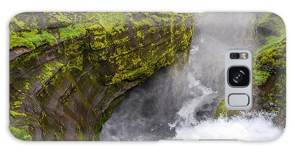 Chasm Galaxy Case - Thundering Icelandic Chasm On The Fimmvorduhals Trail by Alex Blondeau