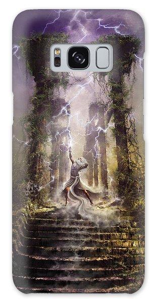 Thunderstorm Wizard Galaxy Case
