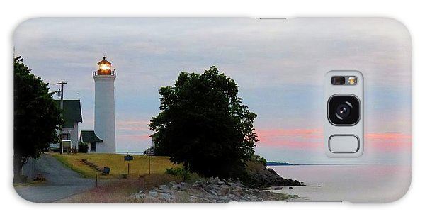 Tibbetts Point Light Sunset Galaxy Case