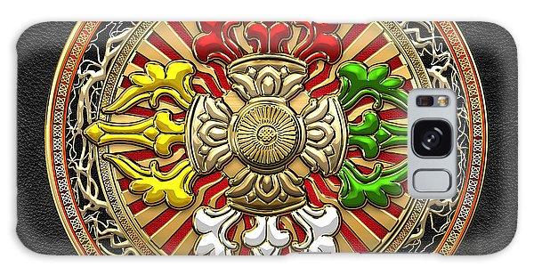 Religious Galaxy Case - Tibetan Double Dorje Mandala by Serge Averbukh