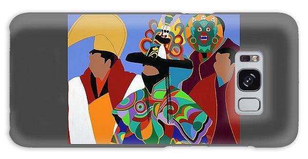 Galaxy Case - Tibetan Monks Cham Dancer by Synthia SAINT JAMES