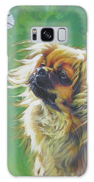 Tibetan Spaniel And Cabbage White Butterfly Galaxy Case