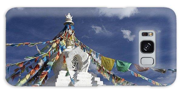 Tibetan Stupa With Prayer Flags Galaxy Case