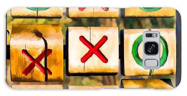 Tictactoe Game Xoxo Galaxy Case by Eleanor Abramson
