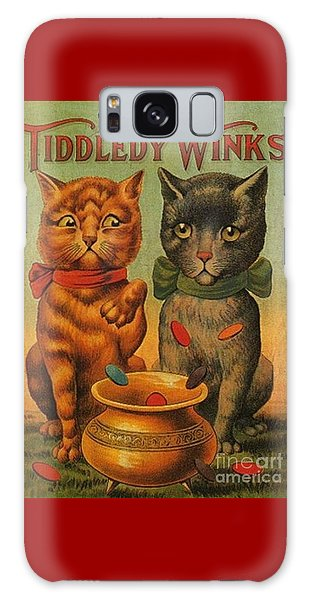 Tiddledy Winks Funny Victorian Cats Galaxy Case