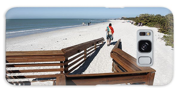 Tide Of Sand Over A Ramp On The Beach In Naples Florida Galaxy Case