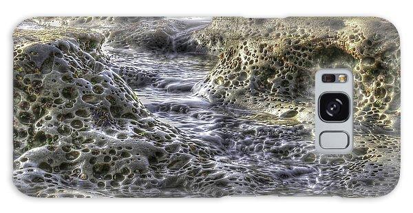Tide Pool Waterfall Galaxy Case