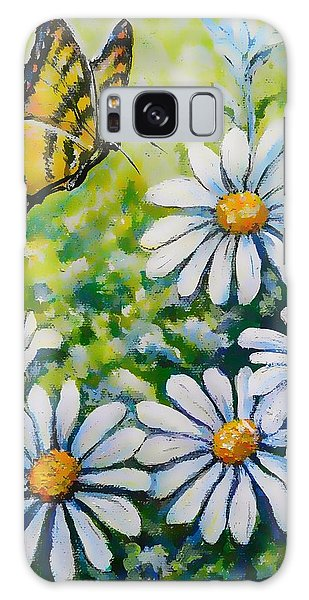 Tiger And Daisies  Galaxy Case