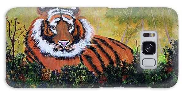 Tiger At Rest Galaxy Case by Myrna Walsh