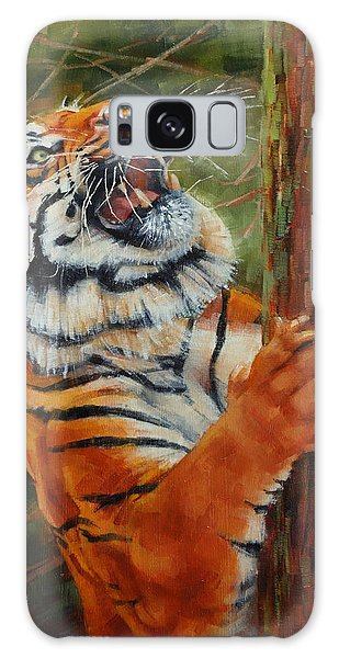 Tiger Chasing Prey Galaxy Case by Margaret Stockdale