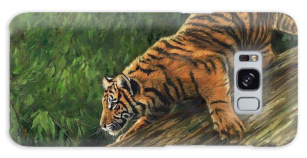 Tiger Descending Tree Galaxy Case by David Stribbling