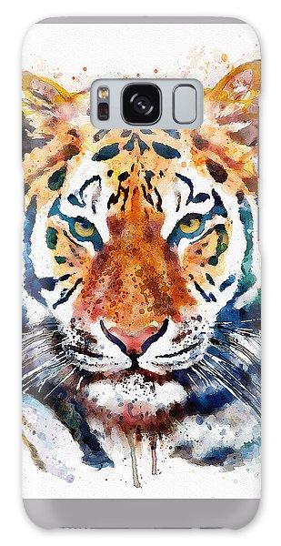 Tiger Head Watercolor Galaxy Case by Marian Voicu