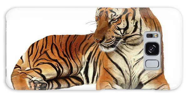 Tiger In Repose Galaxy Case
