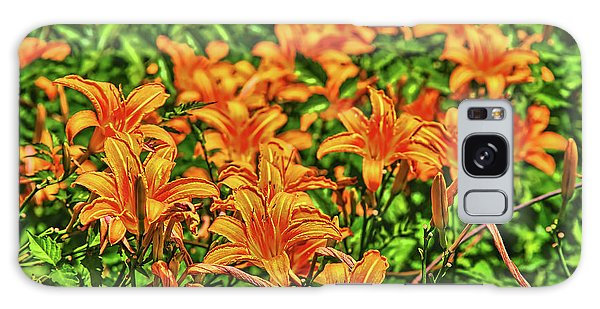 Tiger Lilies Galaxy Case by Pat Cook