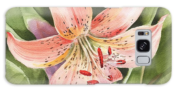 Tiger Lily Watercolor By Irina Sztukowski Galaxy Case
