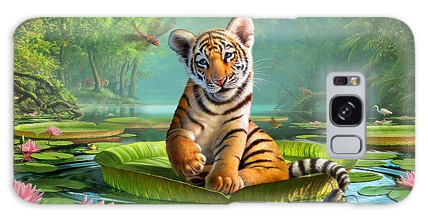 Tiger Lily Galaxy Case by Jerry LoFaro