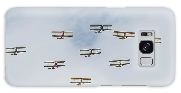 Galaxy Case featuring the photograph Tiger Moth Formation by Gary Eason
