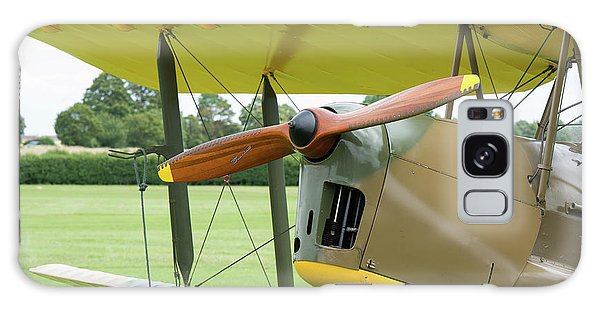 Galaxy Case featuring the photograph Tiger Moth Propeller by Gary Eason