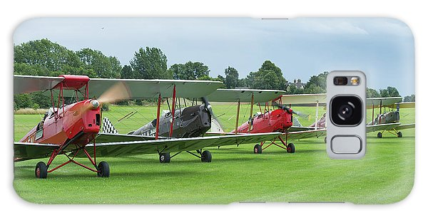 Galaxy Case featuring the photograph Tiger Moths Formation Shutdown by Gary Eason