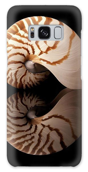Tiger Nautilus Shell And Reflection Galaxy Case by Jim Hughes