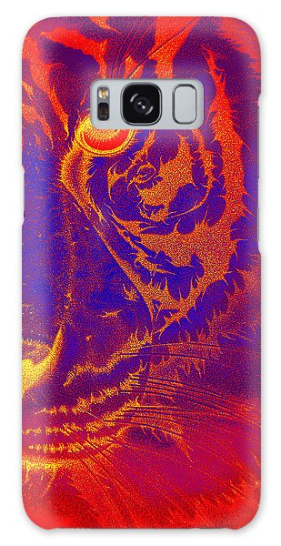 Tiger On Fire Galaxy Case