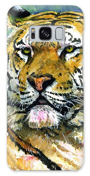 Tiger Portrait Galaxy Case by John D Benson