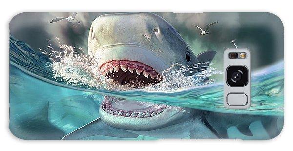 Sharks Galaxy S8 Case - Tiger Sharks by Jerry LoFaro