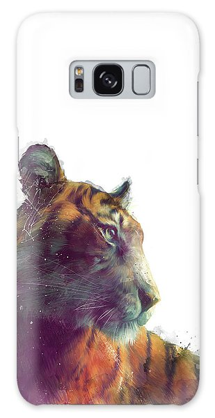 Tiger Galaxy Case - Tiger // Solace - White Background by Amy Hamilton