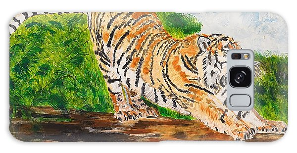 Tiger Stretching Galaxy Case